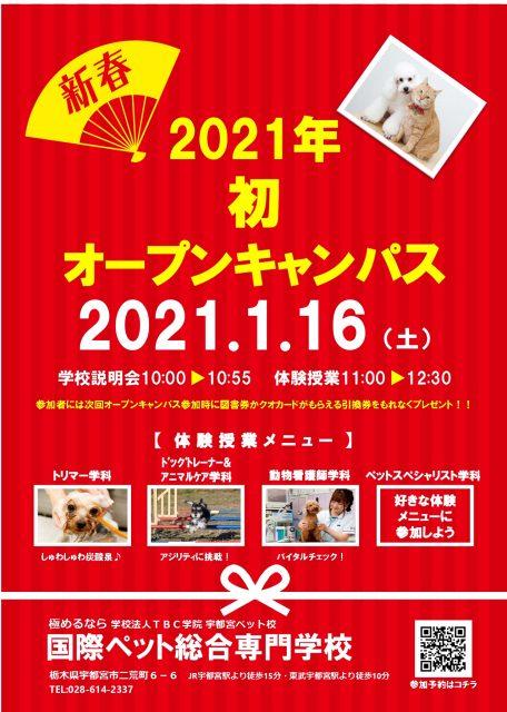 ★次回OC★1月16日(土)オープンキャンパス開催!